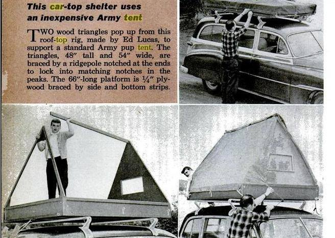roof top tent vintage do it yourself roof top tent