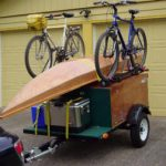 Compact Camping Trailer with bike racks and kayak gear hauler
