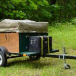 compact camping trailer with tent closed Explorer Box