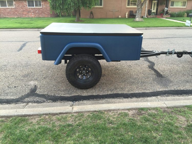 Jeep Trailer Customer Photo - Robert Dinoot Build Off Road Compact Camping Trailer