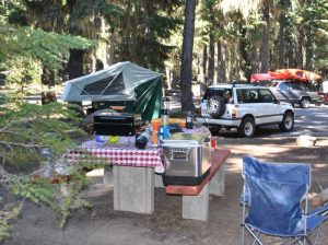 Compact camping trailer camping