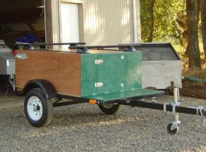 Compact Camping Trailer with Racks as a Gear Hauler
