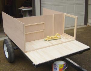 camping trailer box build at home camping trailers plan book