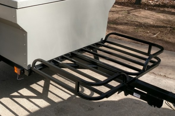 M416 Camping Trailer Military Trailer DIY Front Cargo Basket on Harbor Freight Tongue