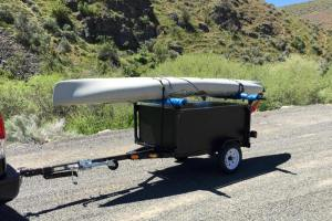 Kayak Racks with DIY No Weld Trailer Racks by Compact Camping Concepts