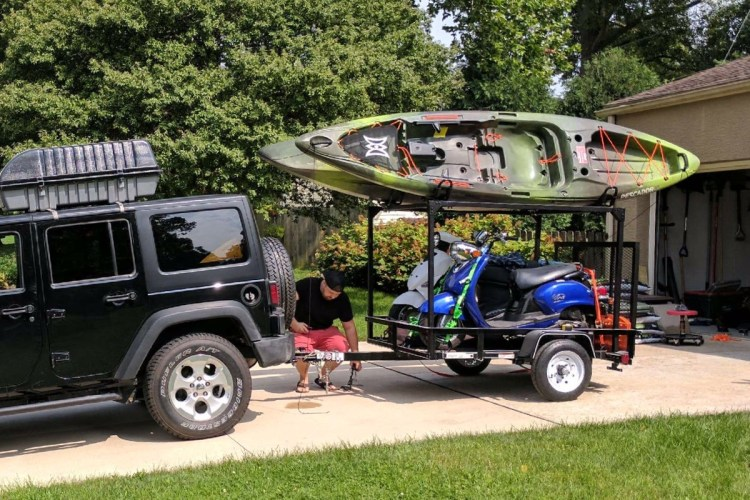 Canoe/Kayak Trailer Racks DIY Trailer Racks Compact Camping Concepts