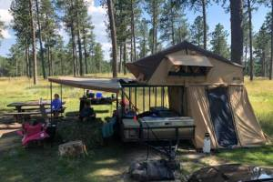 mulit purpose trailer with roof top tent camping trailer
