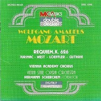 Mozart – Requiem; Choral Works – Vienna State Opera Orchestra (2 CDs)