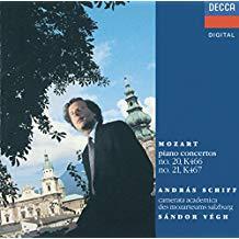Mozart Piano Concerti 20 & 21 – Andras Schiff
