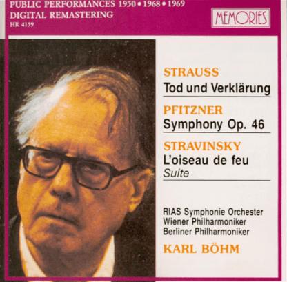 Strauss – Tod Und Verklarung, etc. Karl Bohm