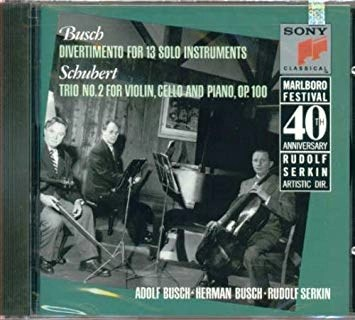 Schubert – Trio No. 2 – Busch – Divertimento (Marlboro Festival 40th Anniversary)