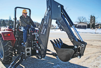 While sales of backhoe attachments on skid steers have decreased, they are still very popular attachments for utility and compact tractors.