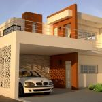 Small Two Storey Residence Plan 1109201 Compact House Plans