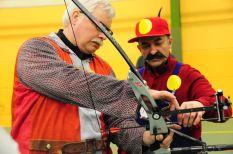 lassé des princesses, Mario se pet au chevalier