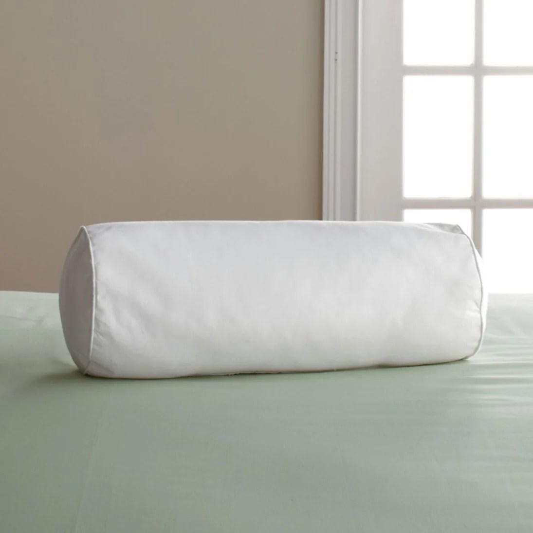 company down free medium density bolster pillow insert white