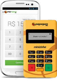 Minizinha PagSeguro com Celular App
