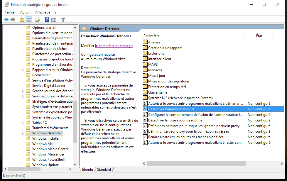 Comment Dsactiver Ou Activer Windows Defender Titre
