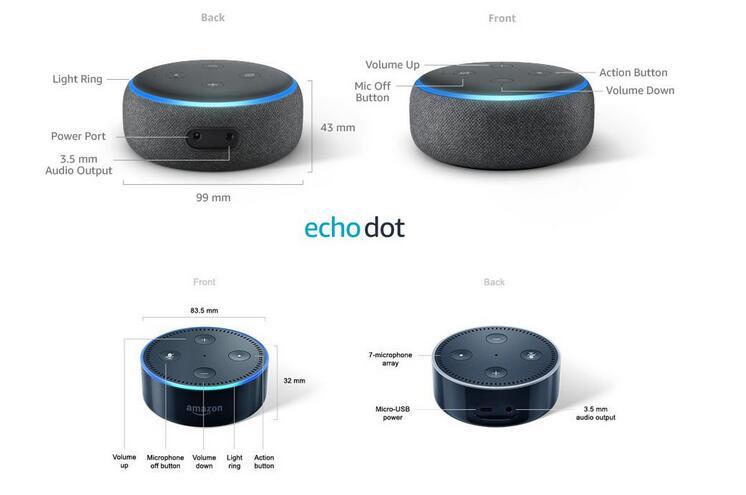 Echo Dot 3 ou Echo Dot 2