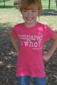 Body image positive girls shirt to help girls with bullying and healthy body image