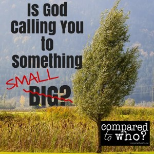 IS God calling you to do something that feels small?