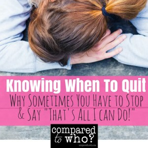 Knowing When to Quit