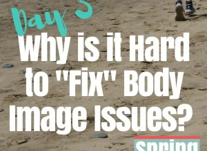 why is it hard to fix body image issues