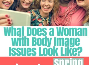 What does a woman with body image issues look like?