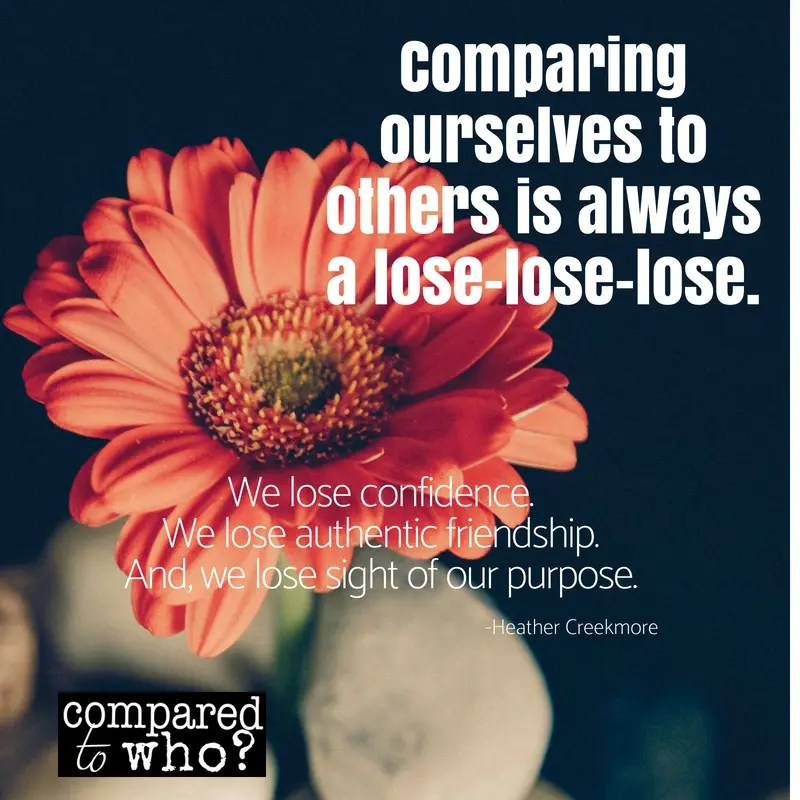 Comparing Yourself to Others is always a lose lose