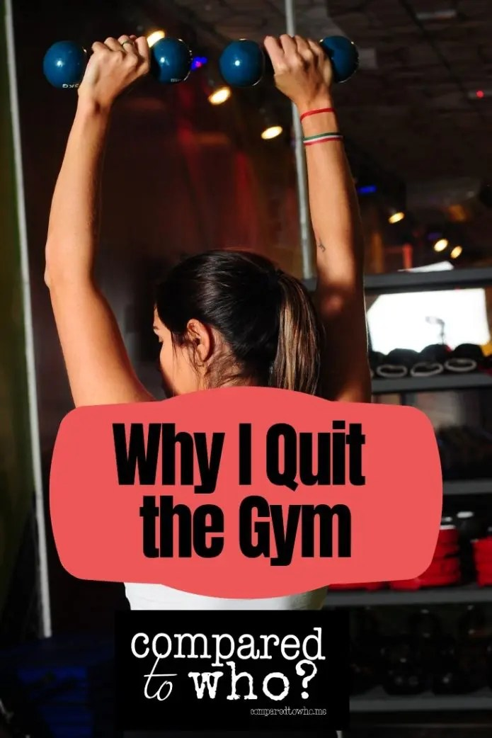 Why I don't work at the gym any more