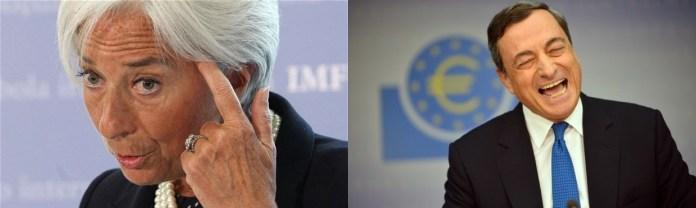 """Christine Lagard chwali Mario Draghiego za """"nieustępliwość"""""""