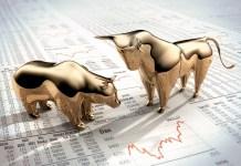 byk i niedźwiedź na rynku