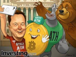 Liczba portfeli bitcoin posiadających 100-1000 BTC gwałtownie wzrosła po zakupach Tesli