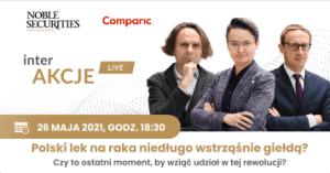Czy polski lek na raka wkrótce wstrząśnie GPW? Dołącz do spotkania interakcje!