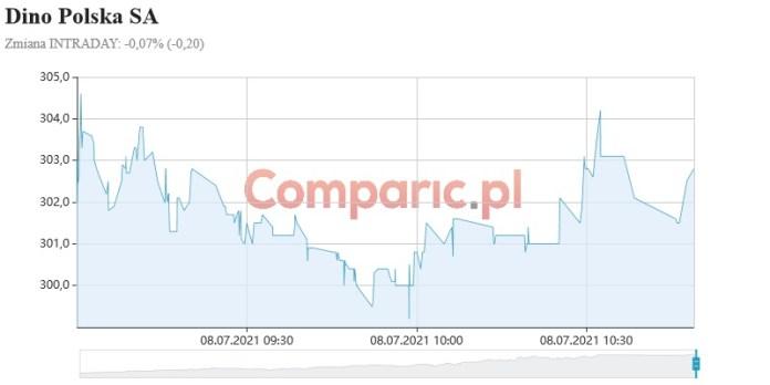 Dino Polska na fali wzrostowej. Od debiutu zyskali ponad 700%, a ich obecna wycena wynosi ponad 300 zł za akcje