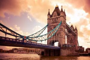 Widok na most w Londynie
