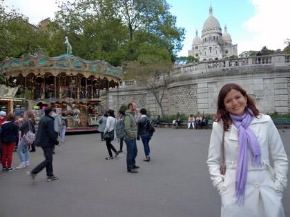 Um dos muitos cenários em Montmartre do filme Amelie Poulain