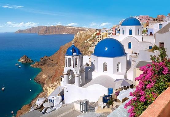 Perdi as contas de quantas vezes já me imaginei curtindo Santorini