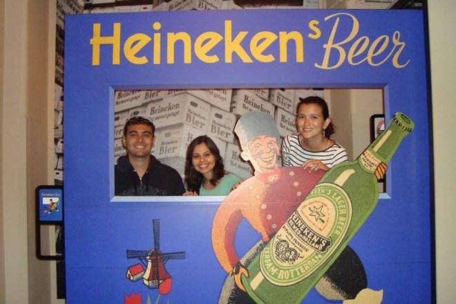 Com Mara na Heineken Experience, em Amsterdã