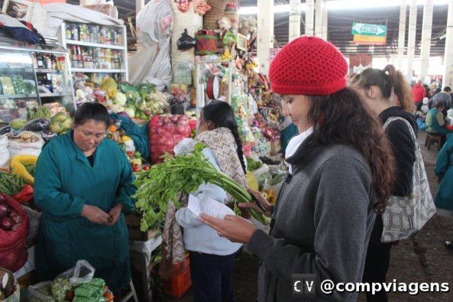 Compras dos ingredientes no mercado