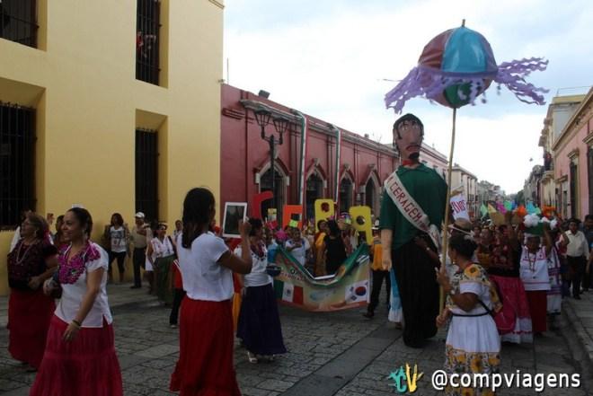 Festa nas ruas de Oaxaca