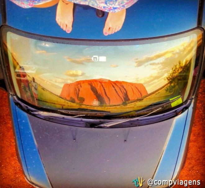 Pôr do sol em Uluru do Uluru Sunset Viewing Area