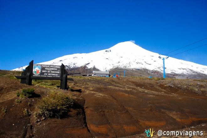Estação de esqui, vulcão Villarrica