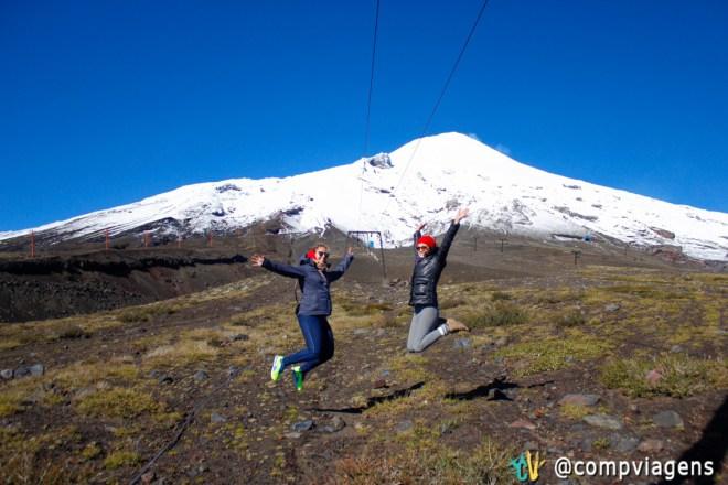 Com Julie no vulcão Villarrica