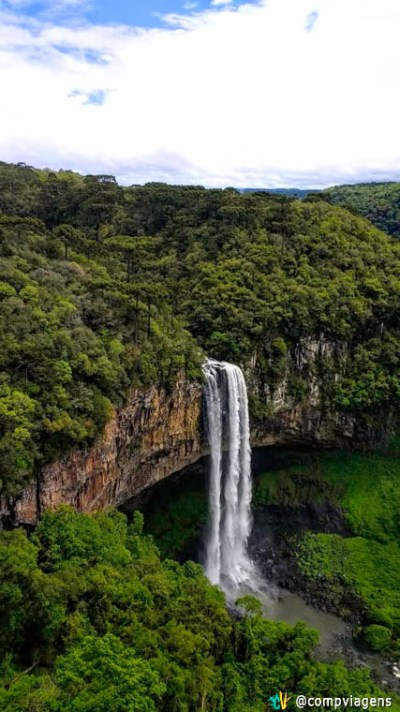 Cascata do Caracol, vista do Parque do Caracol
