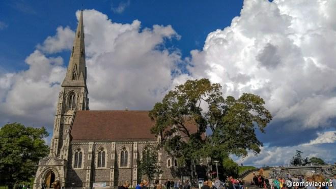 Fonte Gefion próxima a Igreja St. Alban