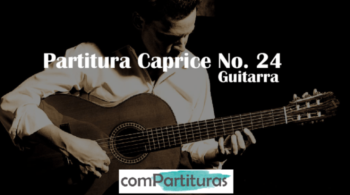 Partitura Caprice No. 24 para guitarra