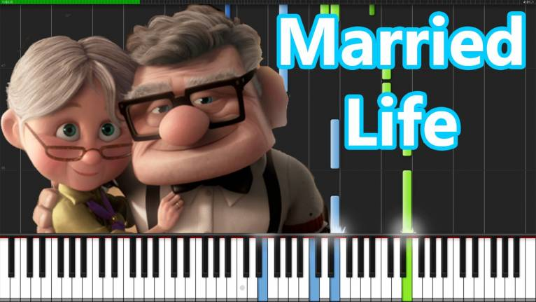UP (Married Life) de Disney y Pixar - Piano