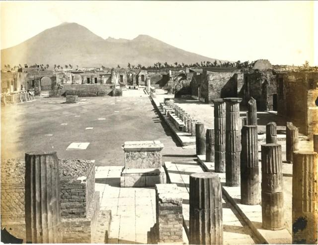 Il foro. Pompei, 1870 ca.