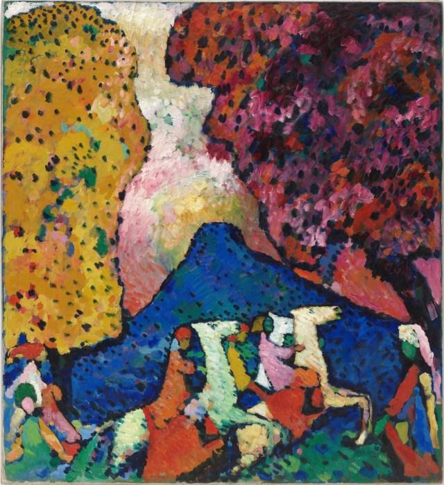 Vasily Kandinsky, La montagna blu (Der blaue Berg), 1908–09