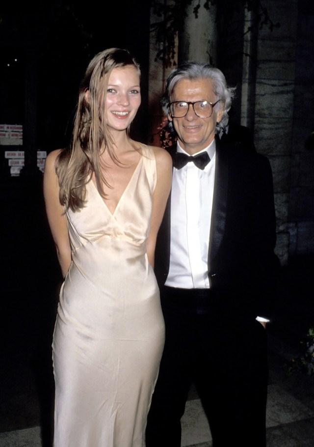 Kate Moss e Richard Avedon a un party in onore di Avedon, settembre 1993